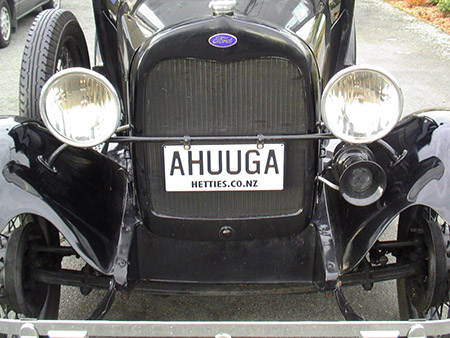 Ahuuga Numberplate ford model a
