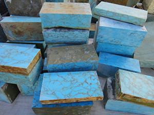 Poly-resin Turquoise Brick